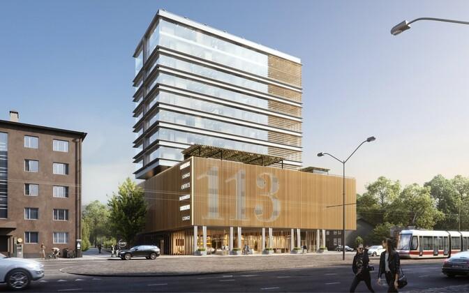 Проект здания  Büroo113 на Пярнуском шоссе.