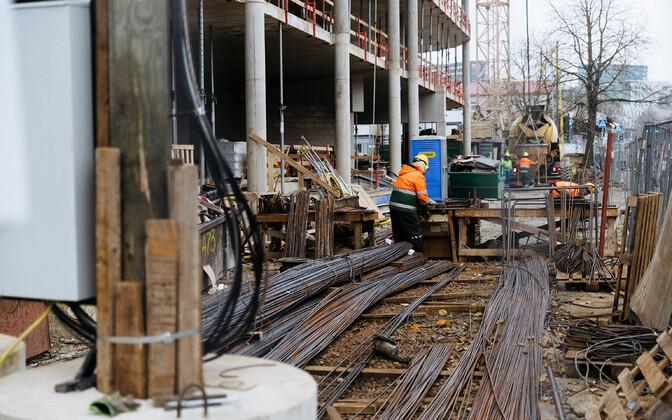 Construction work in Estonia (photo is illustrative).