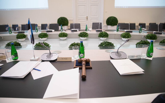Places set out at a government Cabinet meeting. Photo is illustrative.
