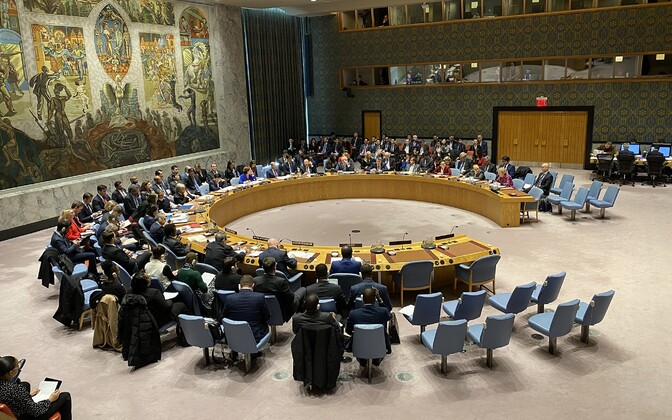 A UNSC session in New York.