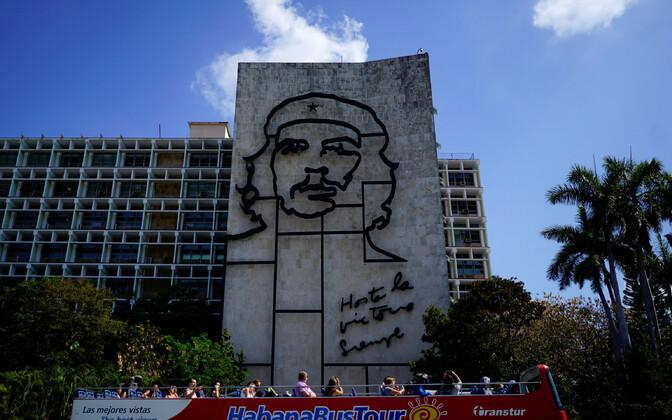 Che Guevara bareljeef Havannas.