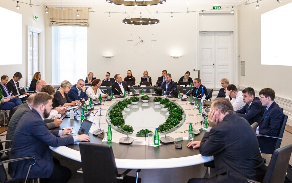 Estonian government meeting.