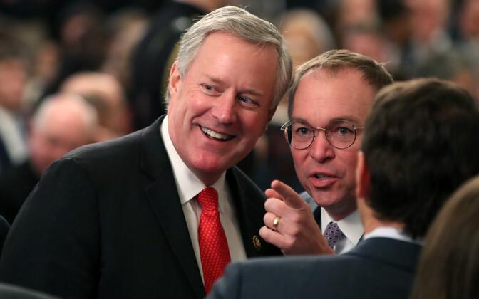 Rahvasaadik Mark Meadows (vasakul) koos oma eelkäija Mick Mulvaney'ga.