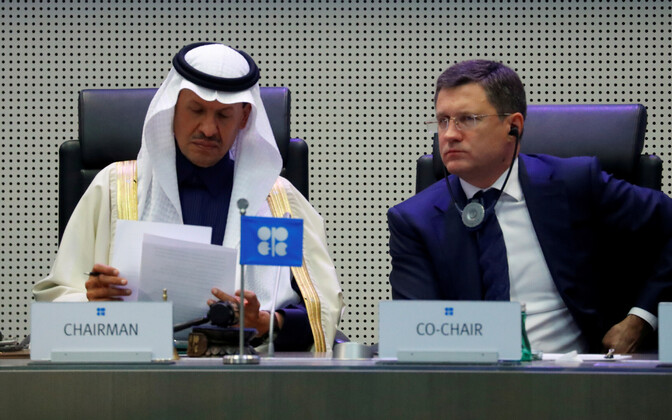 Saudi Araabia naftaminister prints Abdulaziz bin Salman Al-Saud ja Venemaa energiaminister Aleksandr Novak.