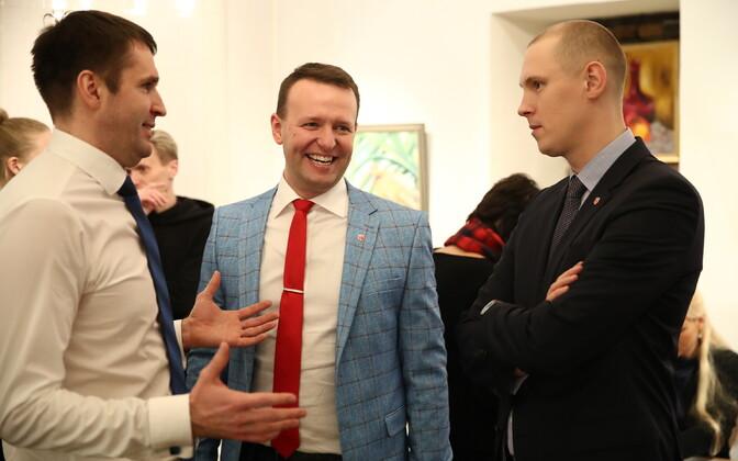 Tallinn Social Democrats. Rainer Vakra on the left.