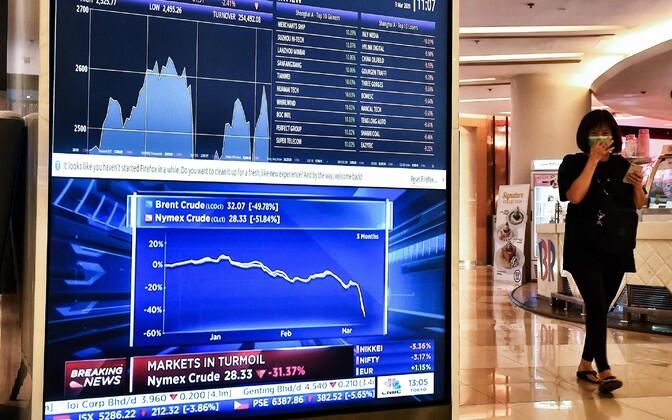 Naftahinna kõver Bangkoki börsil 9. märtsil