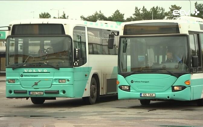 Таллинн попробует продать старые автобусы.