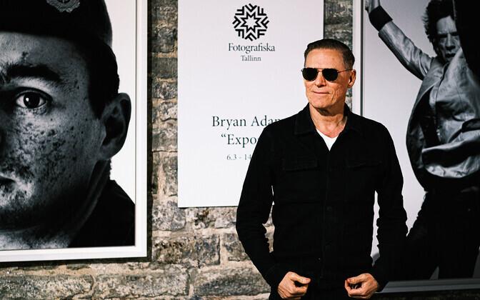 Bryan Adams at Fotografiska in Tallinn.