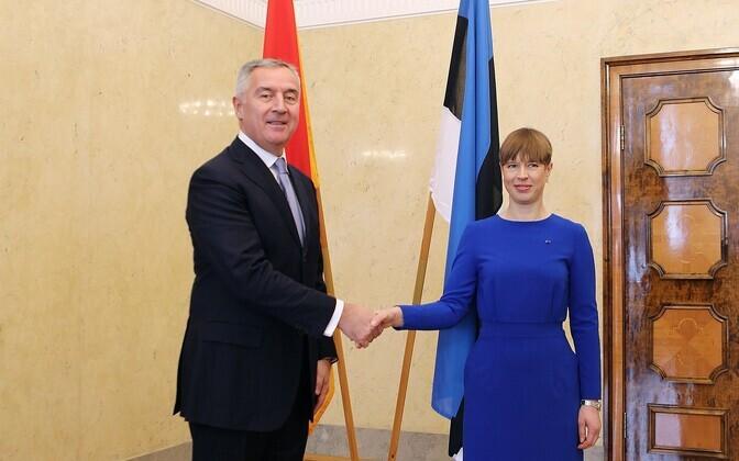 Kersti Kaljulaid and President of Montenegro, Milo Djukanovic.