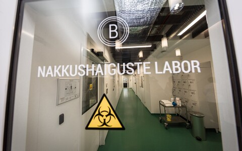 Terviseameti nakkushaiguste labor, kus tehakse koroonaviiruse teste