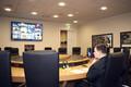 Prime Minister Jüri Ratas attending a meeting of European Union leaders via video link from Tallinn.
