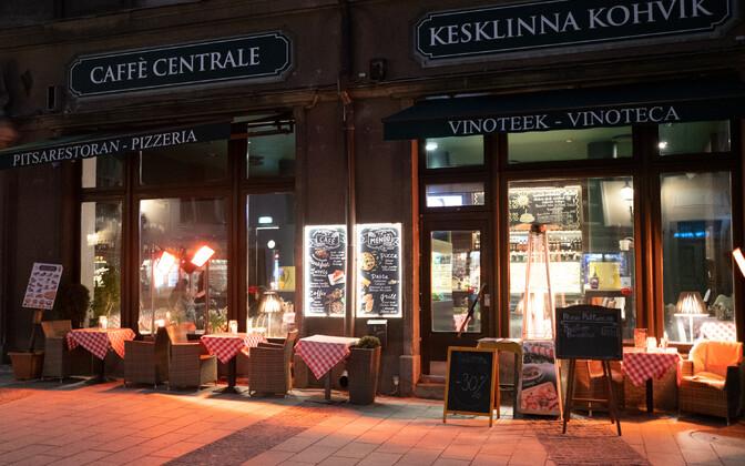 Caffe Centrale in Tallinn Old Town.