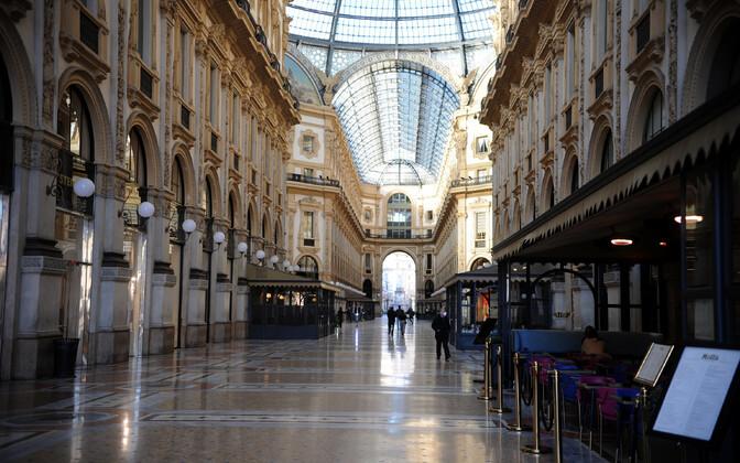 Tühi ostutänav Milanos.