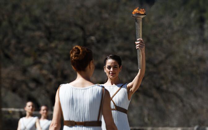 Olümpiatule süütamine