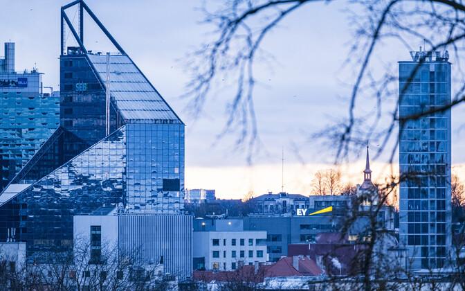 SEB and LHV headquarters in Tallinn.