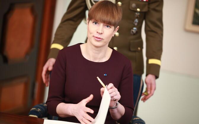 Президент Эстонии Керсти Кальюлайд-