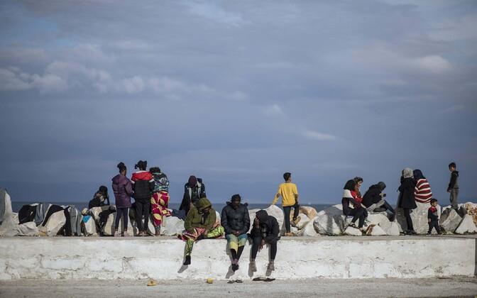 Pagulased Kreeka Lesbose saarel.