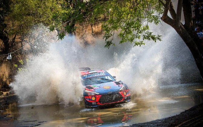 Ott Tänak at Rally Mexico