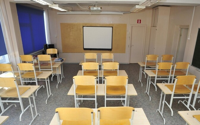 Classrooms in Estonia are currently empty as students learn online from home due to the spread of coronavirus.