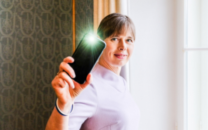 President Kersti Kaljulaid is calling for people to