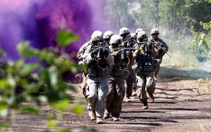 USA sõdurid õppusel Saber Strike aastal 2018.