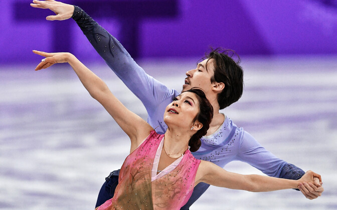 Chris Reed ja Kana Muramoto PyeongChangi olümpial.