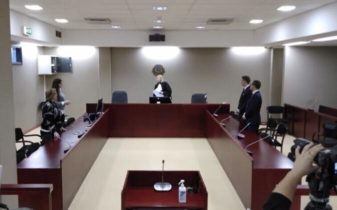 Martin Hallik's sentencing at Tartu County Court on Wednesday.