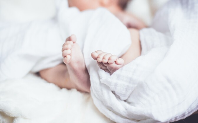 A baby's feet (picture is illustrative).