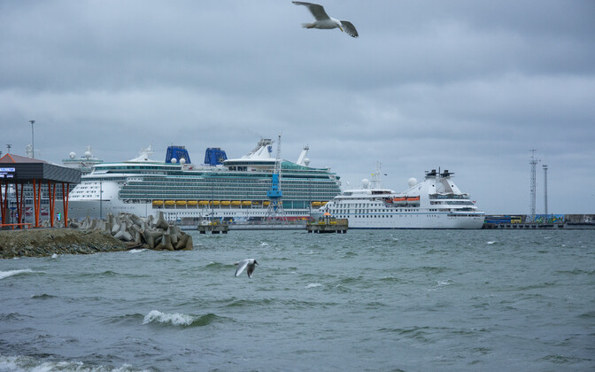 Cruise ships at the Port of Tallinn. These are barred at least until the start of May.
