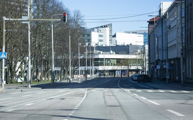 Empty streets of Tallinn