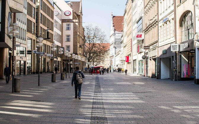 Inimtühi Müncheni kesklinn.