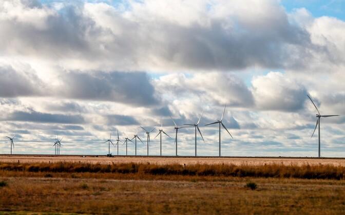 Wind turbines. Photo is illustrative.