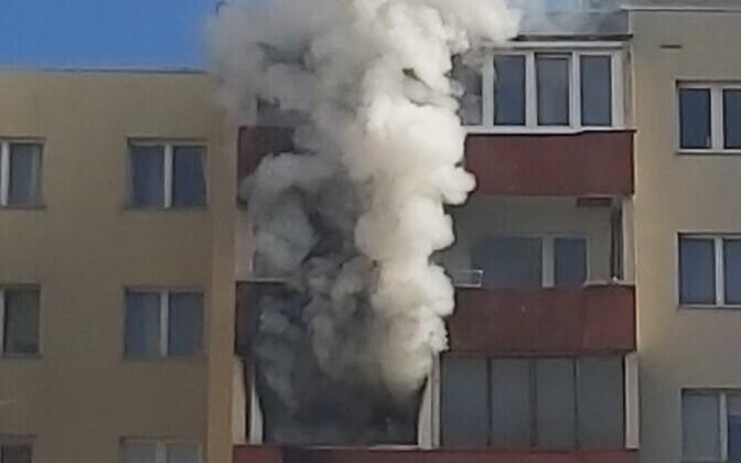Пожар на улице Махтра.