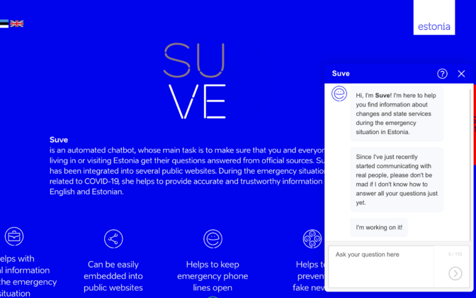 Suve the chatbot.