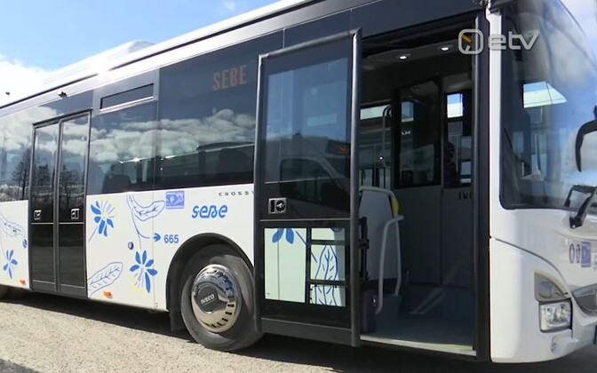 One of SEBE's new buses serving Pärnu County.