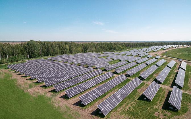 Пярнуский парк солнечной энергии предприятия Eesti Gaas.