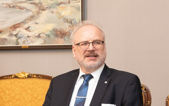 Latvian President Egils Levits.