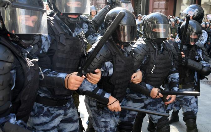 Märulipolitsei Moskvas 2019. aasta septembris.