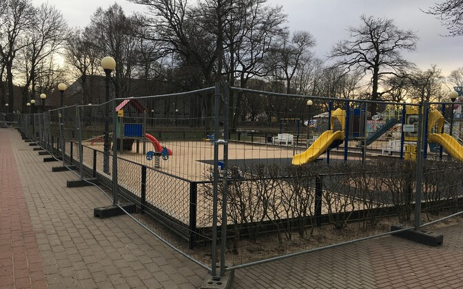 A closed playground in Tallinn.