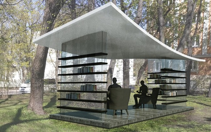 The design for Kadriorg reading corner.
