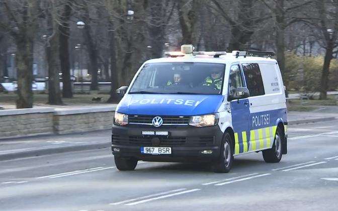 Police vehicle in Tallinn (photo is illustrative).