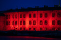 Patarei prison was lit in red to remember the victims of communism on March 25.