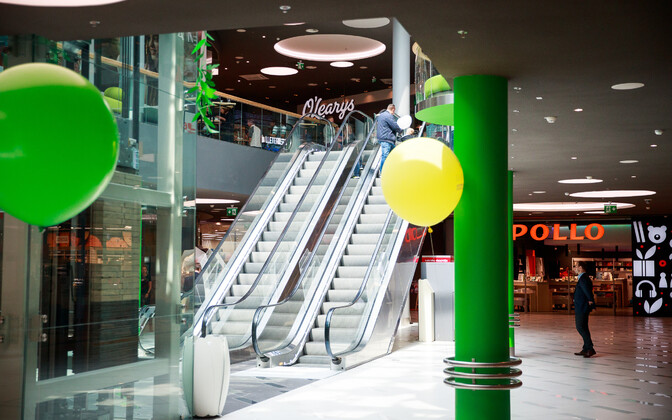A shopping mall in Estonia.