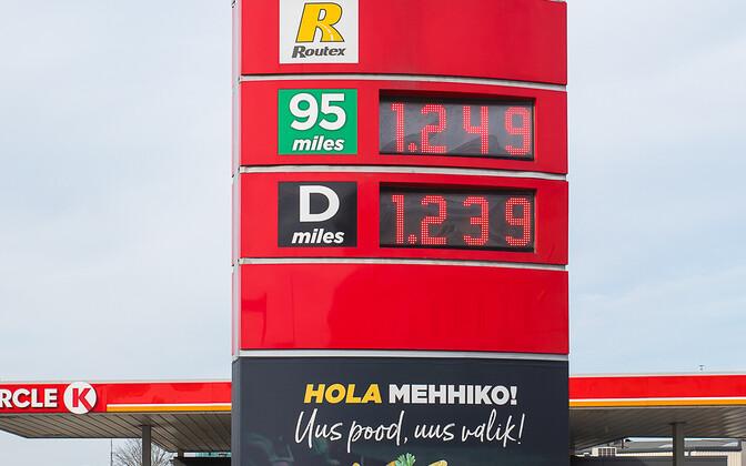 Налоги составляют две трети цены продаваемого в Эстонии топлива.