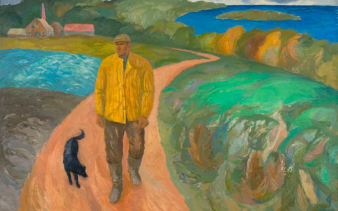 Olev Subbi. Mees Klooga rannast. 1965. Õli, lõuend