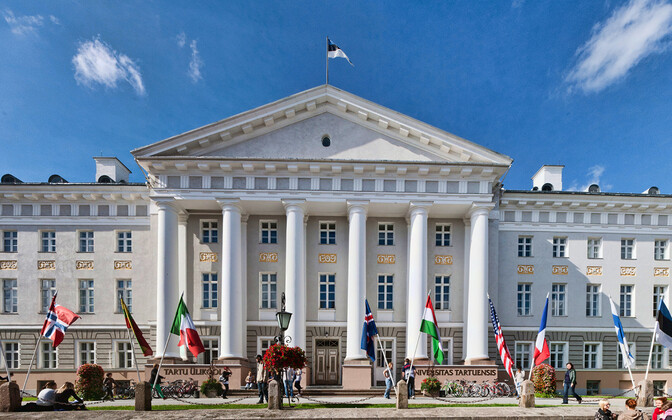 The main building at the University of Tartu (TÜ).
