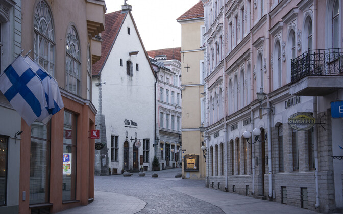 Tallinn's Old Town during the emergency situation.