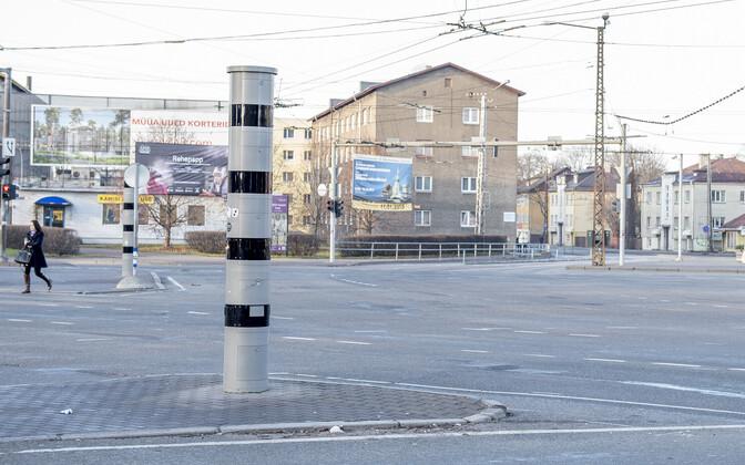 Две из 69 камер контроля скорости установлены на перекрестке в Кристийне.