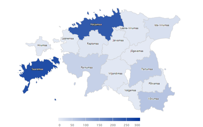 Coronavirus map as of March 30.