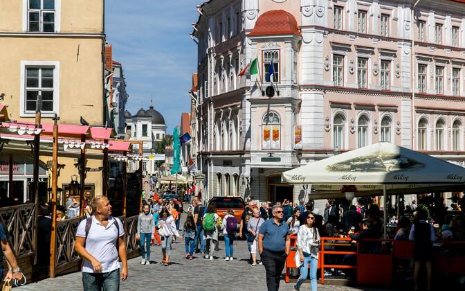 Старый город Таллинна летом 2019 года.
